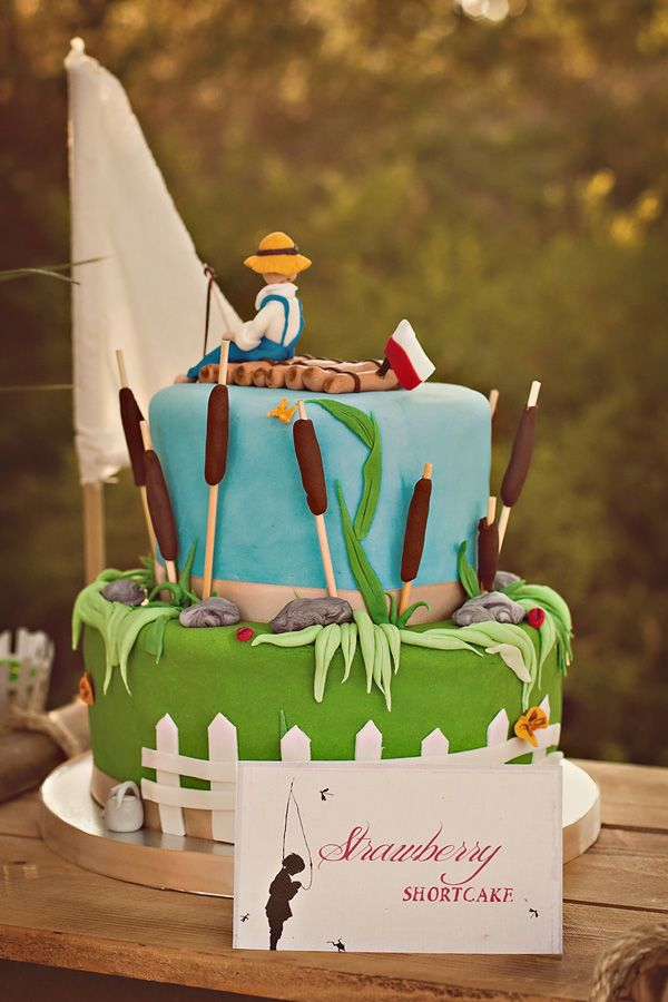 The Adventures of Tom Sawyer and Huckleberry Fin Party Cake