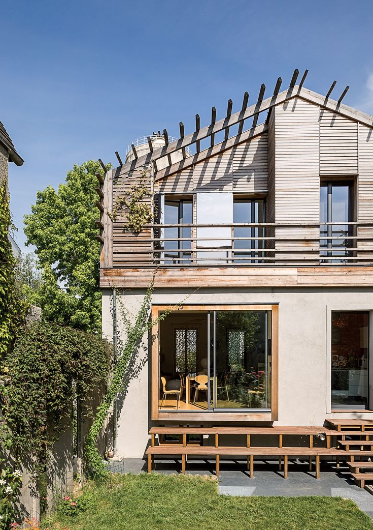 Beau Modern Prefab Home In Paris Suburb With Technal Sliding Doors And Windows,  Wood Stairway To