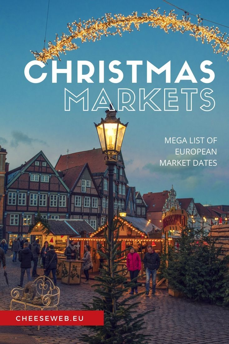 Our Mega List of European Christmas Market Dates 2017 - All the best Christmas Markets in Belgium, The Netherlands, Germany, France, and the UK.