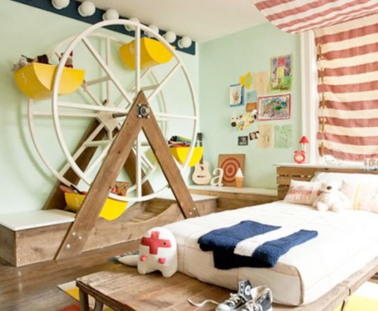 Giant Wheel Home Decoration, great toy storage idea for kids room!