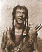 """Veteran character actor Hank Worden plays the Indian """"Poor Devil"""" in Howard Hawks' """"The Big Sky"""" (1952)."""