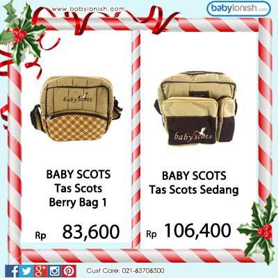 Membawa perlengkapan bayi yang banyak akan menjadi lebih mudah dengan tas bayi dari Baby Scots.  www.babylonish.com