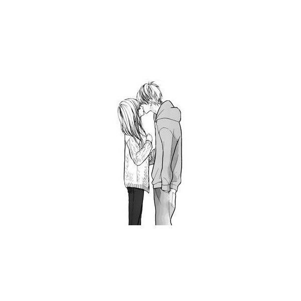 Anime ❤ liked on Polyvore featuring anime, fillers, drawings, couples, art, doodles, text, phrase, quotes and saying