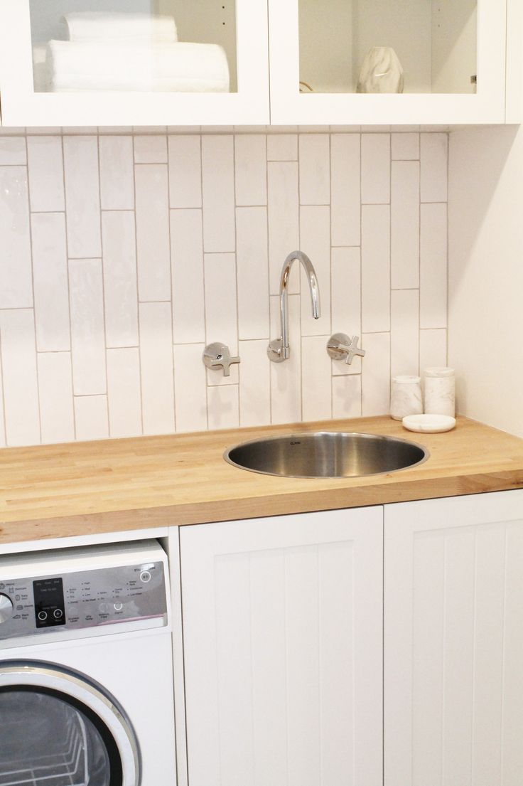 Three Birds House 5 Laundry - Featuring Dorf Maxum Tapware and Clark Cellini Sink.