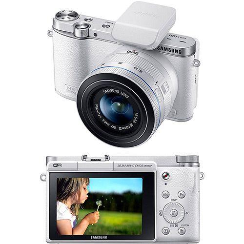 Câmera Digital Semi-Profissional Samsung Smart NX3000 20.3MP Branca