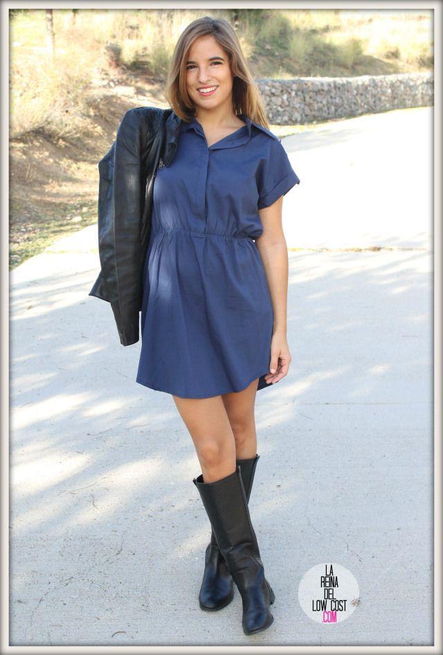 Nuevo post en el blog de Lareinadellowcost !!, nunestro vestido camisero por menos de 15€  ¡Espero que os guste!  http://www.dulcevestir.com/p670822-vestido-vintage-azul-marino-o-caqui.html  www.lareinadellowcost.com/2014/10/21/vestido-camisero-chaqueta-de-cuero/