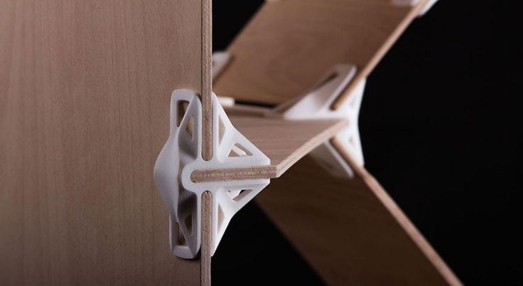 Sperrholzplatten mit 90 Grad Verbindung aus 3D Drucker