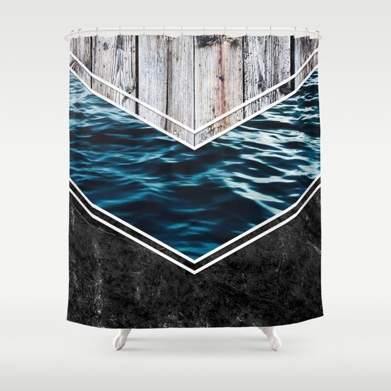 Striped Materials of Nature IV Shower Curtain #wood #wooden #marble #stone #sea #ocean #stripe #stripes #striped #nature #texture #shower #curtains #bathroom #homedecor