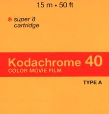 Kodachrome super 8 film cartridge