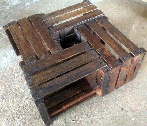Mesa caja de madera-anticuable – Anticuable