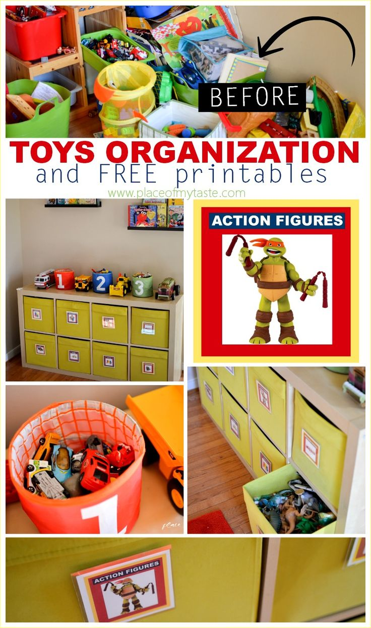 Toys organization and free printables