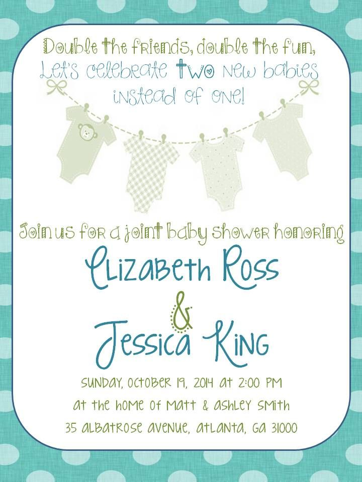 Double Baby Shower Invitations – unitedarmy.info
