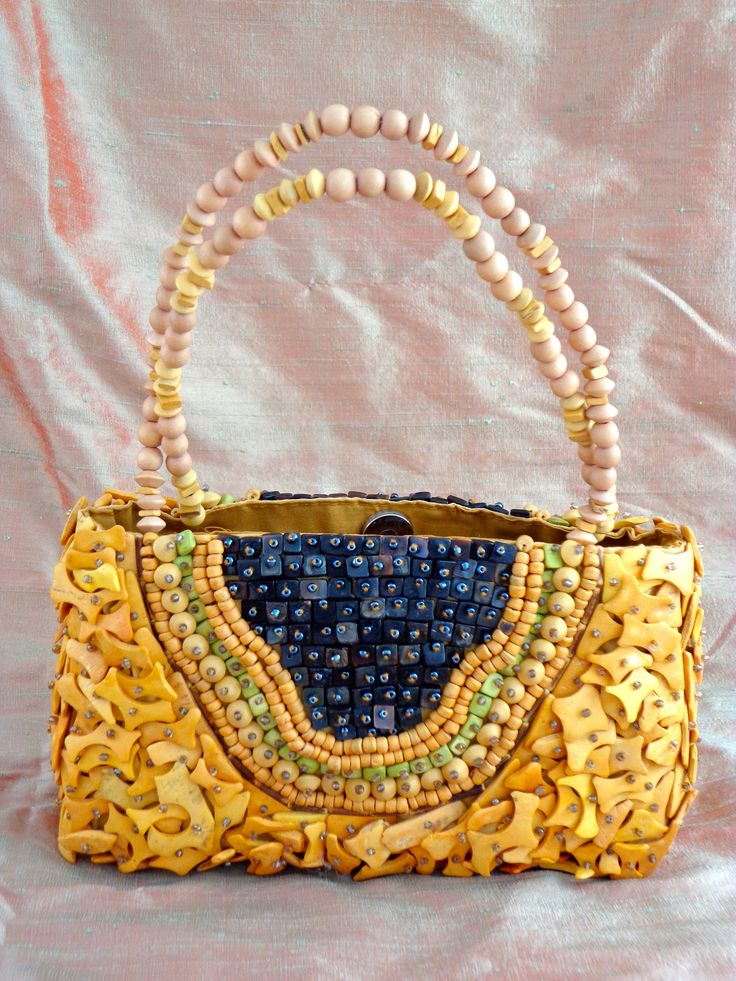 Coconut shell purse