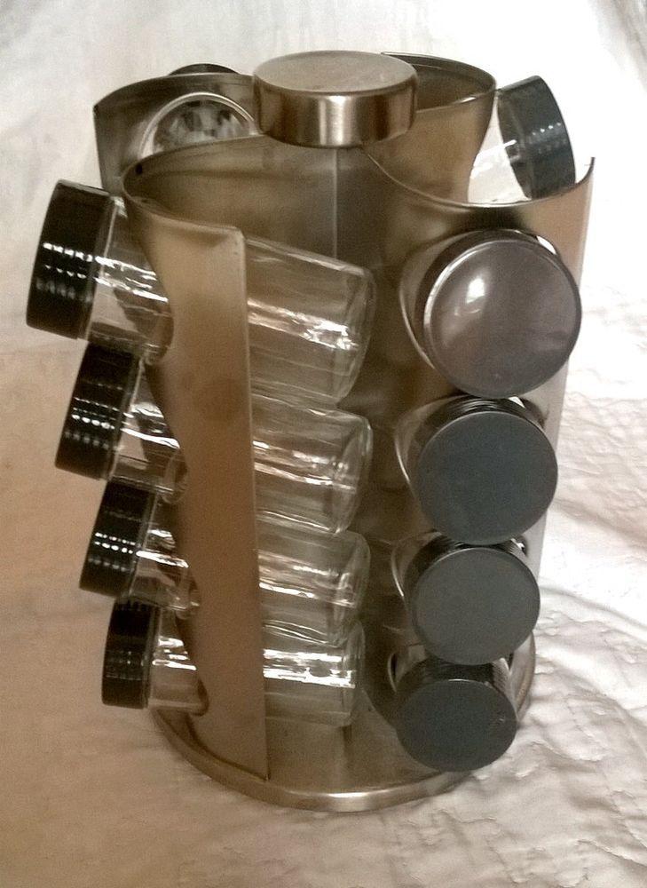 Manège à épices - carrousel rotatif - 16 bocaux