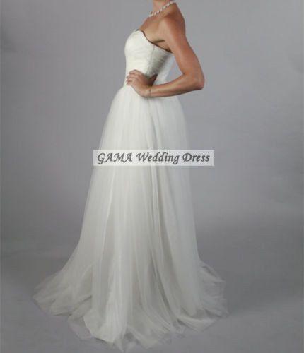 Sale Simple Sweetheart 2016 Plus Wedding Dress Zipper Back Cheap Bridal Gown | eBay