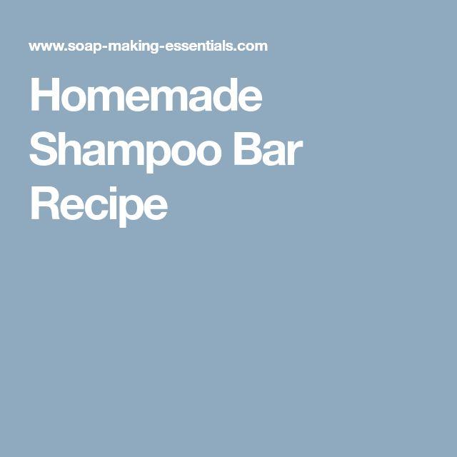 Homemade Shampoo Bar Recipe