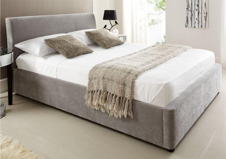 Best 25 upholstered ottoman ideas on pinterest ottoman for Diy ottoman bed frame
