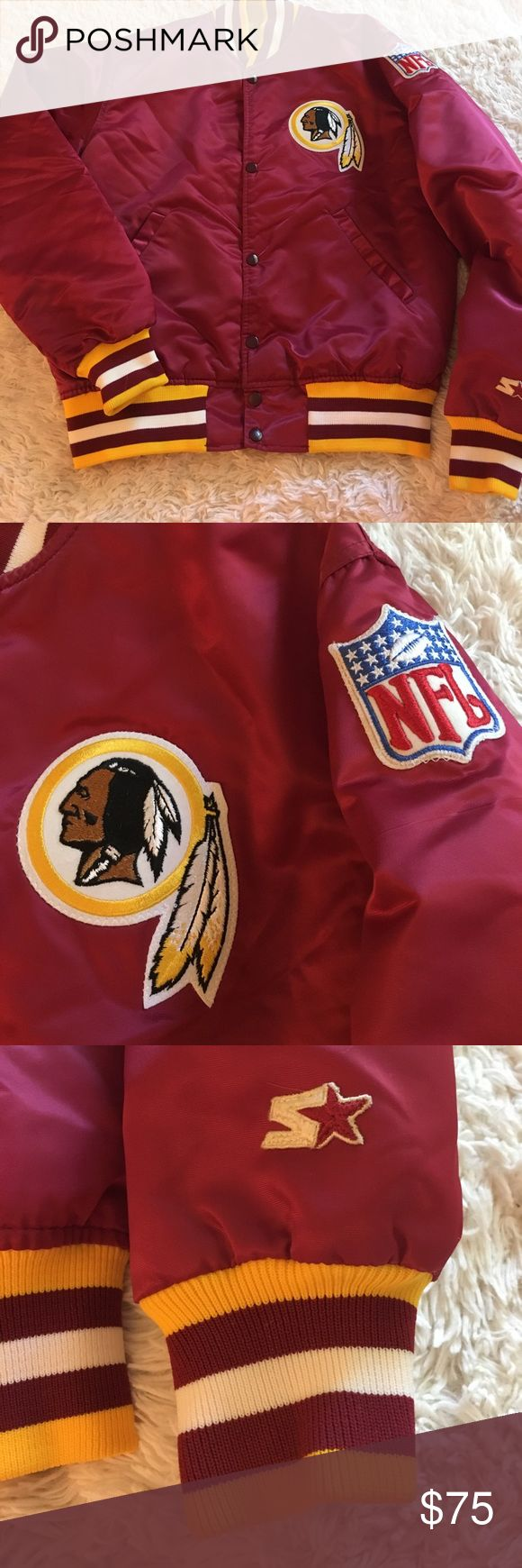 🏈Authentic NFL Starter Redskins Jacket🏈 Like new. No rips or tears! 100% Authentic. NFL Proline Jackets & Coats
