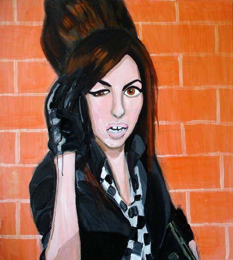 stella vine painting - amy brick wall