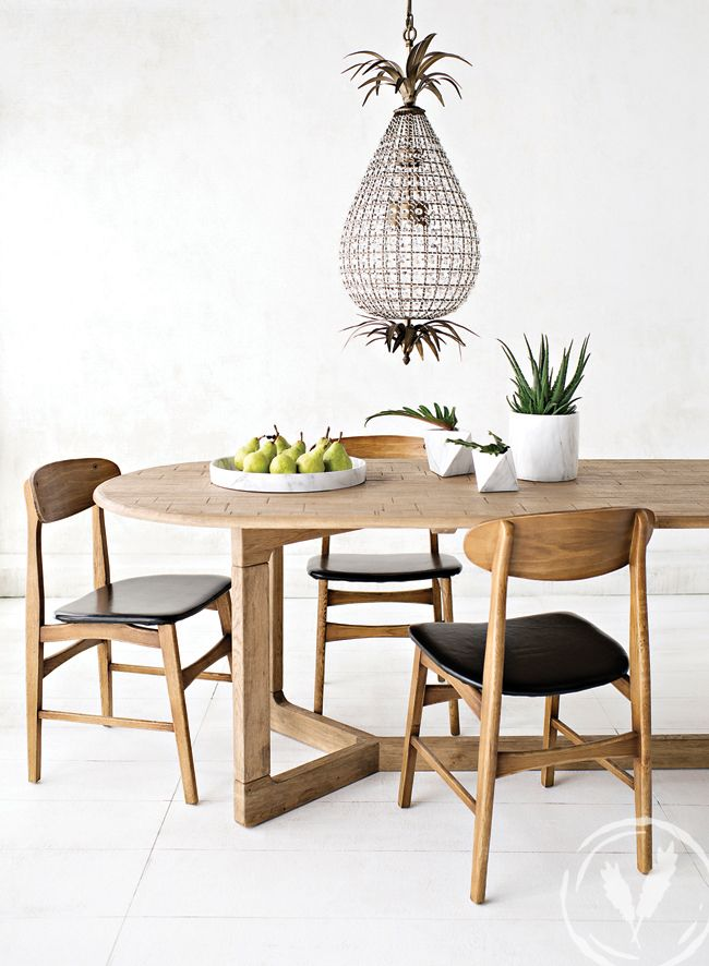 Opposites attract with our Scandinavian style furniture, marbled collection and unexpected cut glass pineapple chandelier www.frenchcountry.co.nz