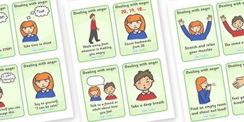 SEAL How To Help Your Anger Cards - SEAL, anger, how to help your anger, display, poster, sign, banner, SEN, emotion, behaviour management, emotions, feelings, angry, stop,  take time to think, take a deep breath