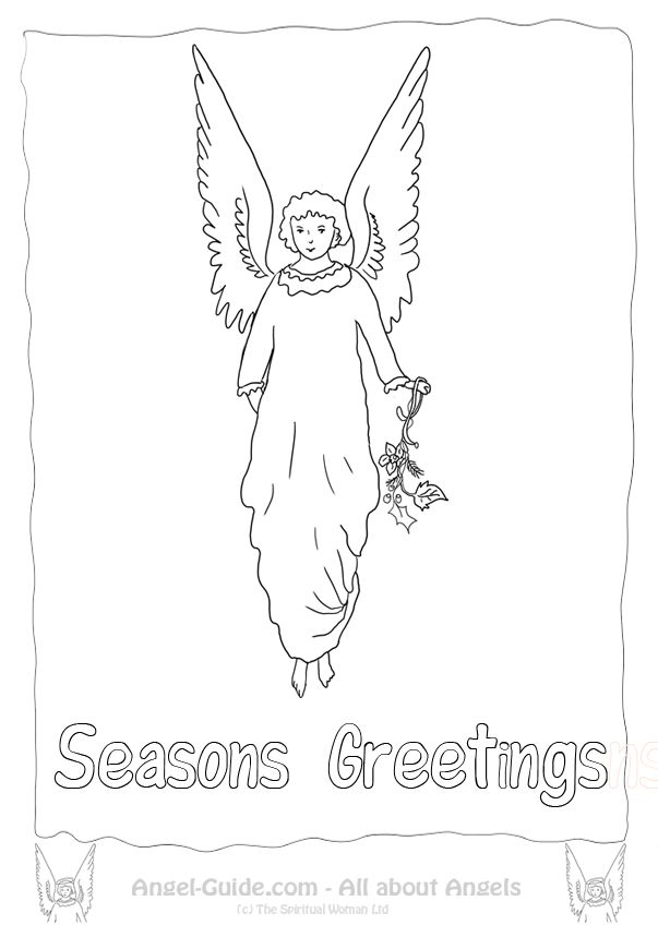 holly and ivy coloring pages | 55 best images about ♥ Angel Drawings to Color on ...