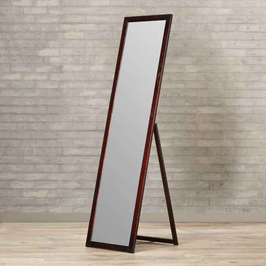 Full Length Stable Wooden Dressing Mirror in ASH