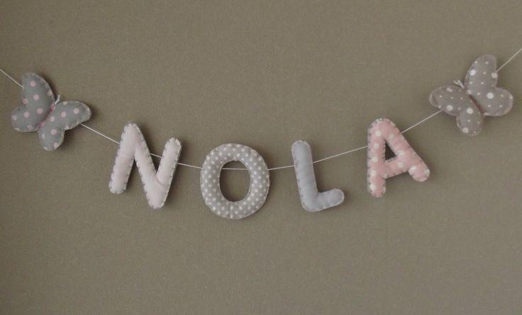 """Banderole Prénom ou lettres pour décoration chambre bébé/enfant : modèle """"Petite chérie"""" : Accessoires de maison par floriane-s"""