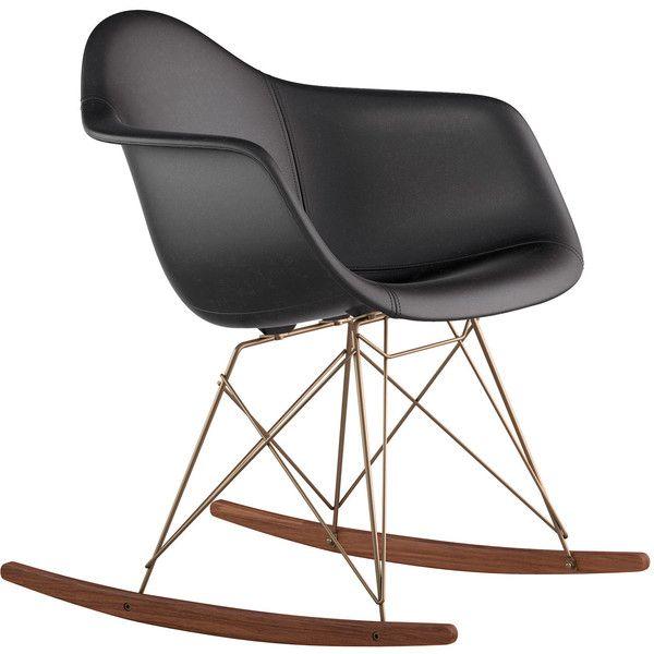 dot u0026 bo modern walnut rocker in leather milano black 385 liked