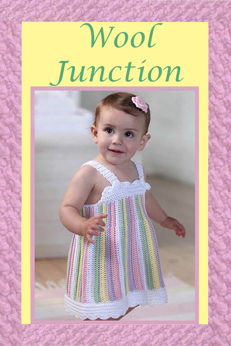 Toddler Crochet Dress Kit Available from www.wooljunction.co.za