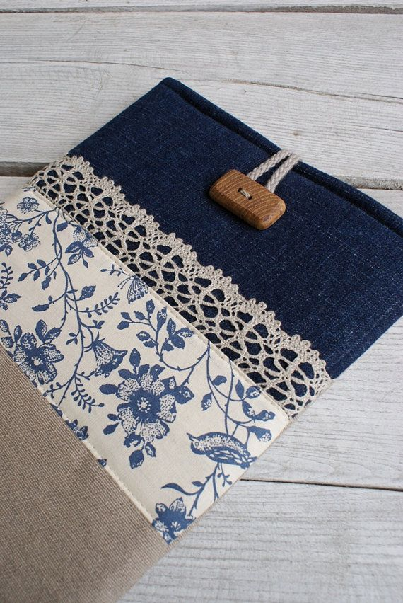 Apple iPad Sleeve Case Cover/padded/ denim/ pocket