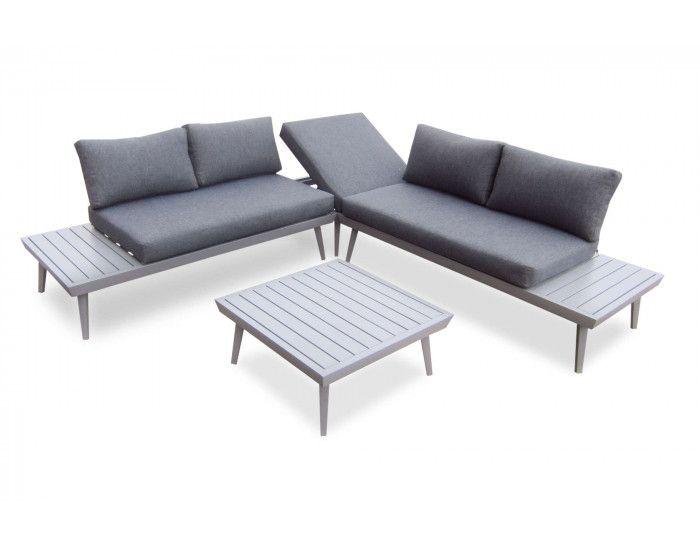 Bobochic Vigo Salon De Jardin En Angle 5 Places Aluminium Composite Salon De Jardin Canape Angle Salon D Exterieur