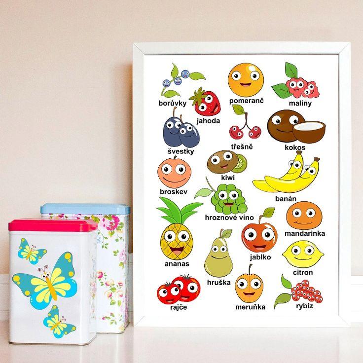 Poznáváme+ovoce+a+zeleninu:-)+Obrázek+je+vytištěn+ve+formátu+A4,+vyšší+gramáže.+Obrázek+můžu+po+domluvě+nechat+vytisknout+i+ve+větších+:-)+Jedná+se+o+originální,+autorský,+grafický+design+:o)+(C)+Dythree