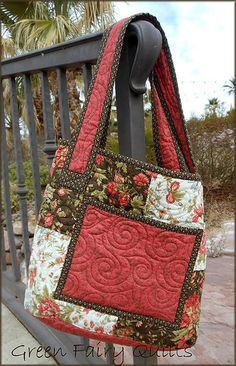 What do I like about this? The colors? The design? The binding around the pocket and the top and the straps? Yes!