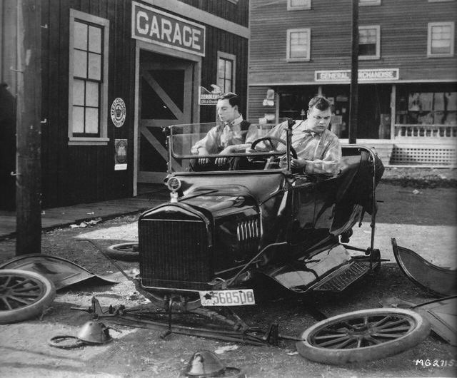 Image result for buster keaton the garage