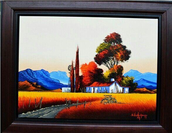 Fine art Original oil on canvas done by Nic van Rensburg  To own vist www.laurensbarnard.com