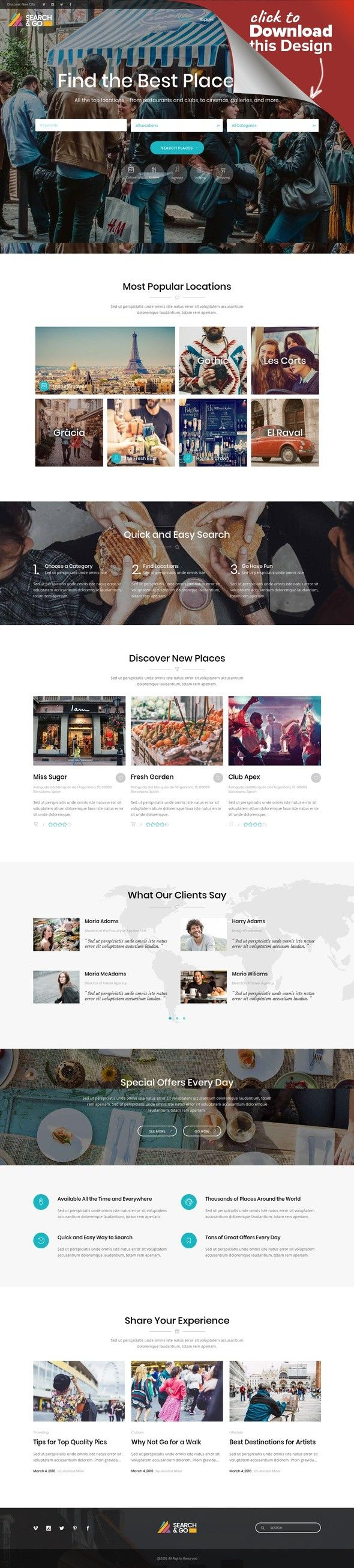 Search & Go - Modern & Smart Directory Theme airbnb, booking, classified, clean, companies, database, directory, fresh, listing, local, map, paypal, real estate, reservations, reviews Test User Acces You can view user dashboard and try creation of a new listing with following credentials (you can sign-in directly from front-end) User: Test Password: Test Theme Features Easy to use – no coding knowledge required Powerful Admin Panel Fully ...