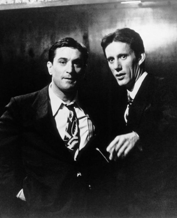 "Robert De Niro and James Woods on the set of ""C'era una volta in America"" Dir. Sergio Leone, 1984."