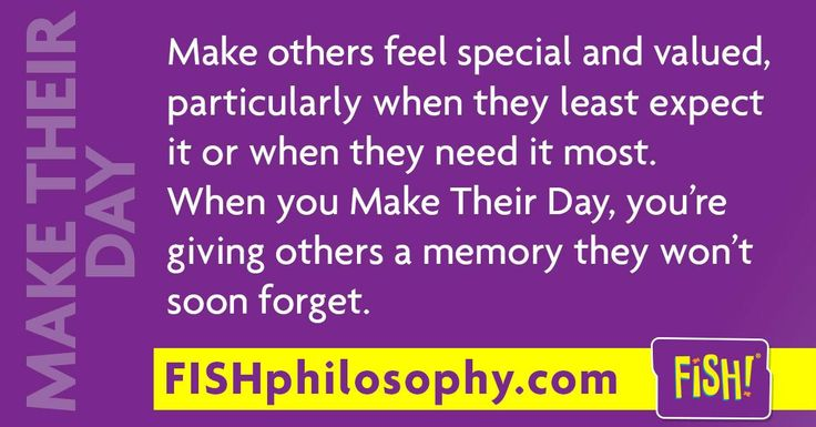Make Their Day is the happy surprise... #FISHPhilosophy #Propellergirl fish philosophy