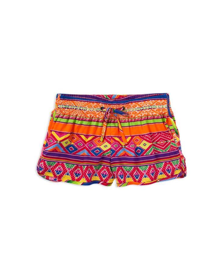 Ralph Lauren Childrenswear Girls' Print Track Shorts - Sizes 2-6X