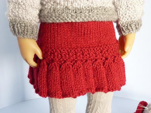 Ravelry: knitisle's winter skirt