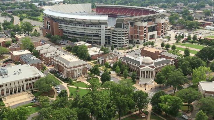 "Take a look at this ""birds-eye"" view of the campus and you will see why The University of Alabama has been ranked by thebestcolleges.org as one of ""The 50 Most Amazing…"