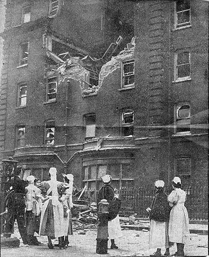 Bomb damage to Luckes Nurses Home, Whitechapel London.