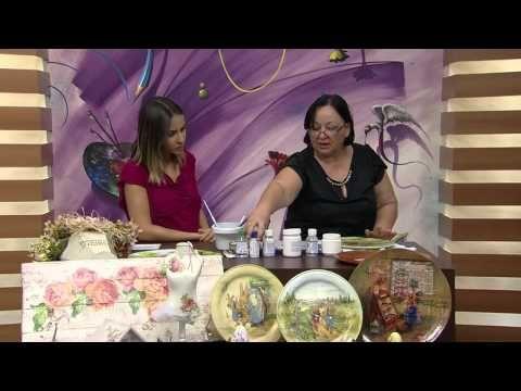 Mulher.com 12/02/2014 - Prato de cerâmica de páscoa - Rose Rodrigues (Bloco 2/2) - YouTube