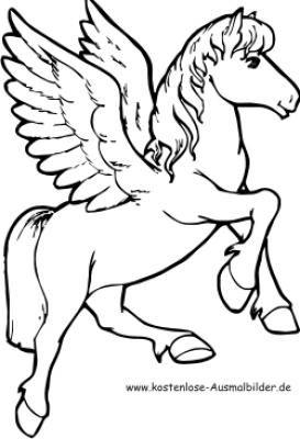 Deutsche Maerchen | Malvorlagen Ausmalbilder Pegasus Pferd Pegasus Pferd ausmalen ...