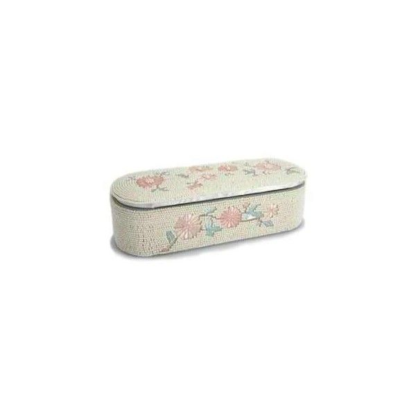 LAURA ASHLEY » HOME FURNISHINGS » ACCESSORIES & GIFT » BEDROOM... (€22) ❤ liked on Polyvore featuring home, home decor, jewelry storage, boxes, decoration, embroidered jewelry box, laura ashley home decor and laura ashley