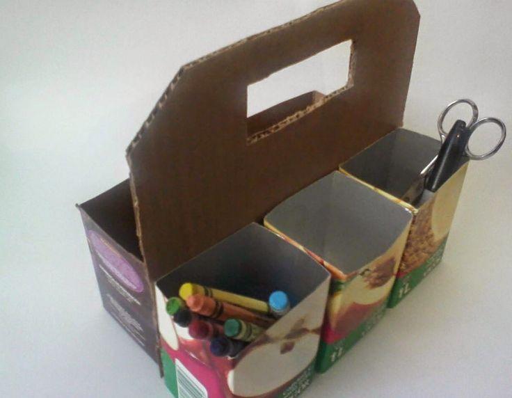 Caixa de ferramenta de caixa de leite passo a passo