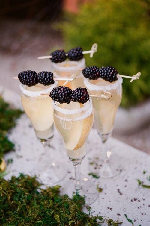 Brides: Festive Champagne Signature Cocktail Ideas