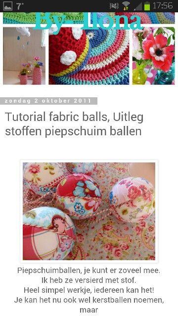 Kerstballen maken