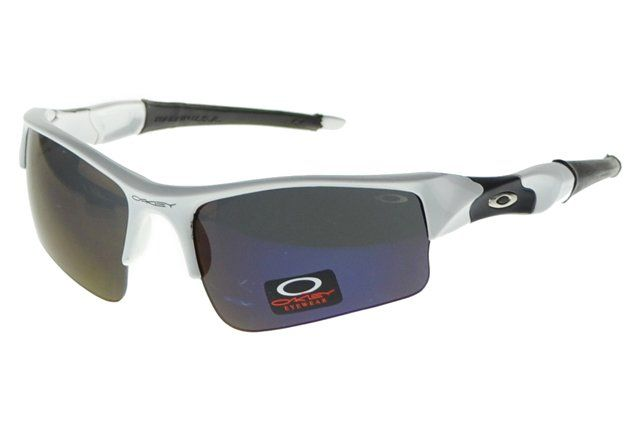 Wholesale Replica Oakley Flak Jacket Sunglasses Silver Frame Purple Lens#Oakley Sunglasses